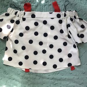 Zara Polka Dot Top